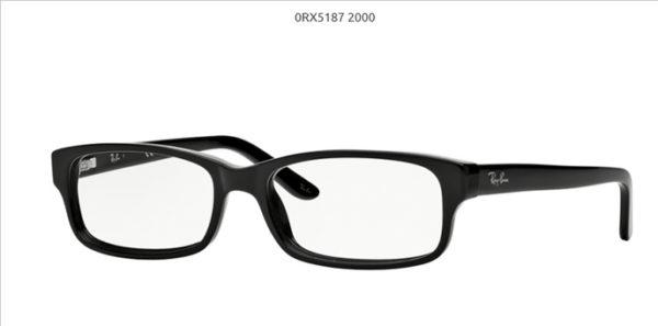 Ray Ban 0RX5187-2000-black